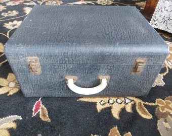Large Vintage Trunk Luggage Suitcase Wood