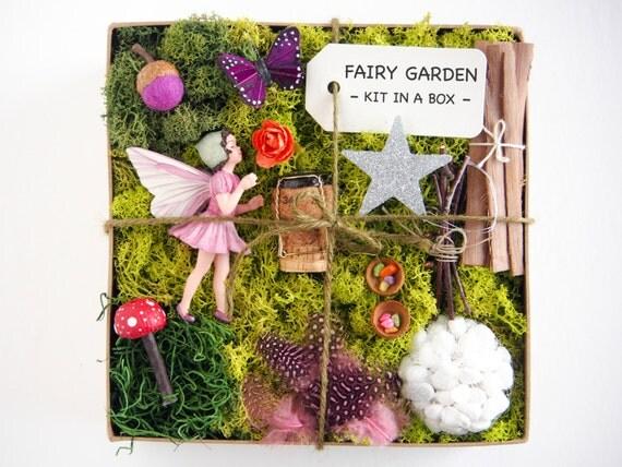 Fairy garden kit flower fairy figurine garden accessories for Fairy garden kits