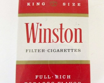 Winston Cigarette Playing Cards Never Opened Cellophane wrapped Tobaccoiana Collectible Playing Cards