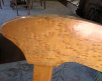 Antique Ladies Wooden Side Chair Birds Eye Maple Cane Seat 1930s