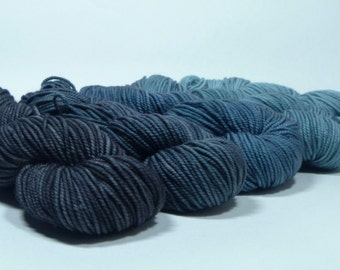 Yarn of Letters - Gradient Set - Jest 3ply Merino/Nylon Sport - Driver Picks the Music Shotgun Shuts his Cakehole