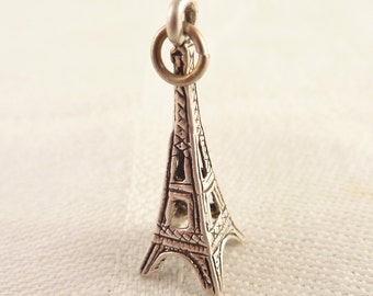Vintage Sterling Eiffel Tower Charm