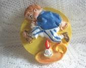 Nursery Rhyme Jack be nimble  Button Mother Goose