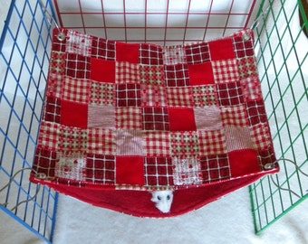 RAT SAC Rectangle Over/ Under med - Red Plaid