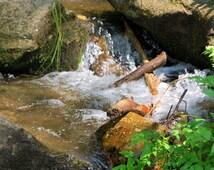 Hidden Waterfall, Fine Art Photography, Home Decor, Office Decor, Matted Photography, Waterscape Art, Mountain Decor