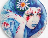 Needle Minder, Licensed Art, Jonas Joedicke, Goddess of Koi , Cross Stitch Keeper, Fridge Magnet , Jojoes Art