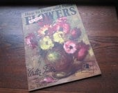 Vintage Walter Foster Instructional Book * Vintage How To Draw and Paint Flowers * Retro Lush Lithographs