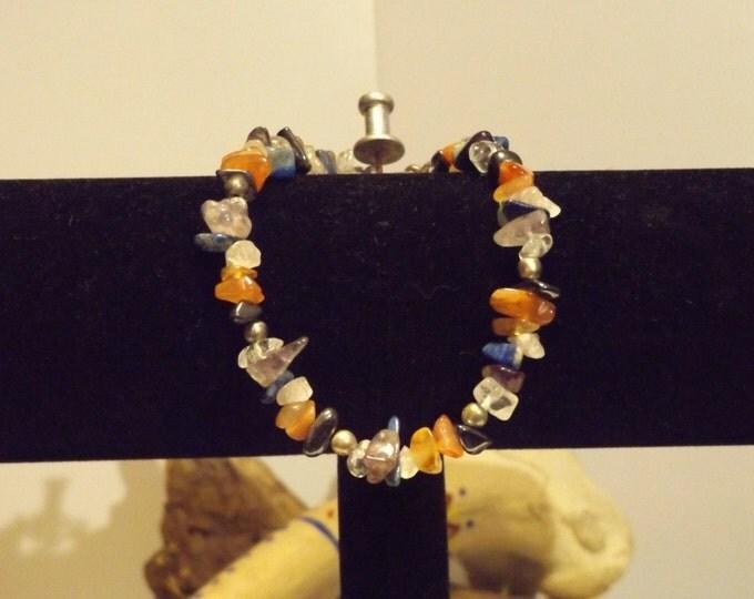 Chakra Healing Crystal and Gemstone Bracelet, Healing Crystal and Gemstone Jewelry, Native American inspired, Healing Crystal and Stones