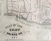 1880 Large Rare Vintage Map of Lot 8, Prince County, Prince Edward Island (RESERVED)