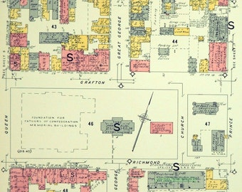 Vintage Maps of Charlottetown, PEI - Set of 52 Street Maps - 1960s Insurance Maps of Charlottetown - Prince Edward Island maps - PEI maps
