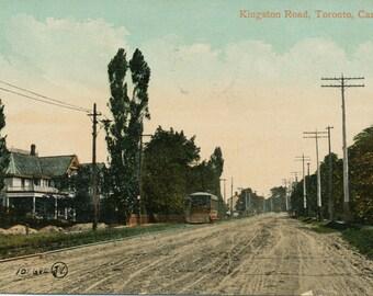 Vintage Postcard of Kingston Road, Toronto - 1910 Old Toronto Postcard - Memorabilia