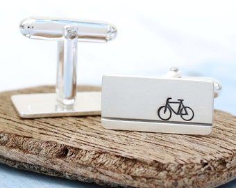 Bike cufflinks | Bicycle cufflinks | Cycling cufflink | Cyclist gift | Silver cufflinks uk | Fathers day gift | Best man cufflinks | Biker