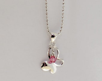 Butterfly Charm with Birthstone