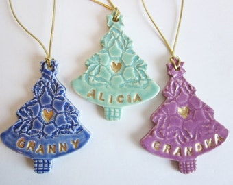 Grandma Christmas tree ornament, Nana  monogrammed ornament, Granny Holiday decoration