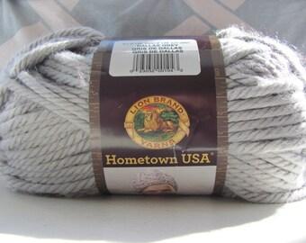 Lion Brand Hometown USA Yarn-Dallas Grey- Destash Yarn