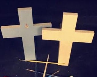 CLEARANCE! Bundle of 10 for just 50 Cents each cross! C20 style: 6''x9''x1/2'' thick with keyholes. Inventory must go!