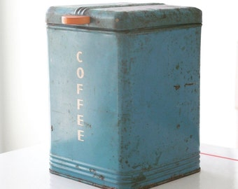 Blue Kreamer Coffee Canister Container