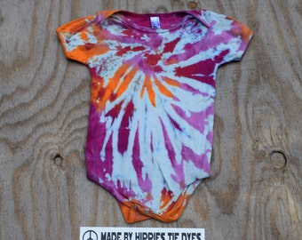 Sweet Cascade Tie Dye Baby Onesie (American Apparel Organic Cotton 18-24 Months 4001ORG) (One of a Kind)