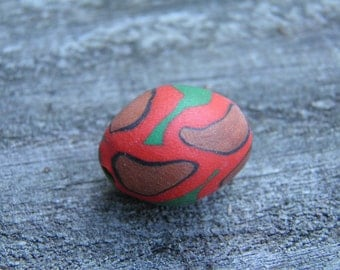 Five Assorted Polymer Clay Beads (Handmade) (One of a Kind)