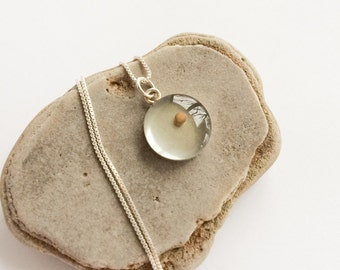 mustard seed faith - sterling silver mustard seed pendant - optional sterling silver necklace - sterling mustard seed necklace matthew 1720