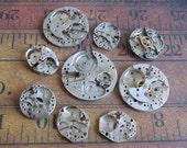 Featured - Steampunk supplies - Watch movements - Vintage Antique Watch movements Steampunk - Scrapbooking h9