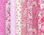 Liberty Tana Lawn Fabrics Pink Selection 770 - 8 Fat Quarter Selection