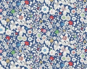 Liberty Tana Lawn Fabric June's Meadow A Half Yard Multi Floral Blue White