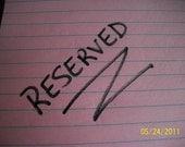 Reserved for hugcat