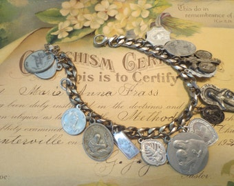 Instructed In The Doctrines and Duties Religious Charm Bracelet Vintage Charm Vintage Religion