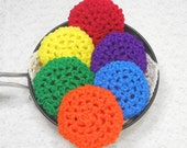 Pot Scrubber, 6pk, durable scour pads, nylon net, home cleaning aid, kitchen, eco-smart, 20 colors. Please specify colors from llist.