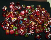 CLOSING SALE Assortment of Red Lampwork Christmas Beads
