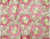 On SALE - Lovely Vintage French Fabric Cotton Floral Pink Satin Quilt Doll