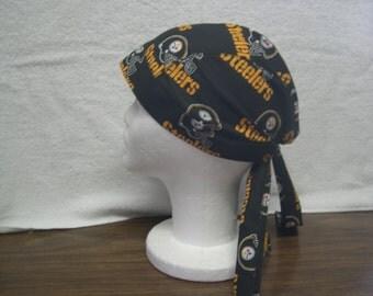 Pittsburgh Steelers Skull Cap Do-Rag NEW
