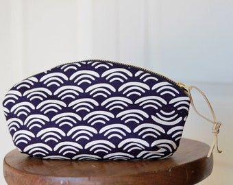 Purple Waves Petal Pouch
