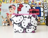 mini zipper pouch coin pouch knitting notions pouch mini knitting bag zippered bag - HELLO KITTY