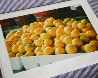 Market Lemons Photo Card Greeting