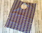 "Sale! Toddler Pocket Bib | Rocketship Pattern Fabric | Like a ""dish towel"" bib only better"