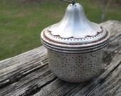 Acorn Shaped Auminum Tea Basket--Tea Ball--Loose Tea Infuser--Cottage Chic Tea Party--Boho Christmas Ornament