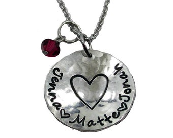 Close to the Heart Hand Stamped Mom Necklace