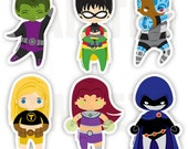 Teen Titan Stickers