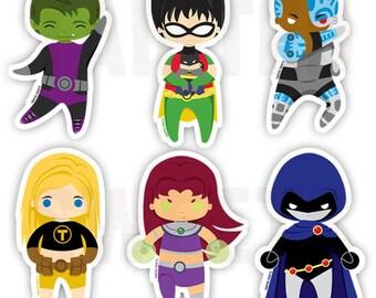 Teen Titan Stickers