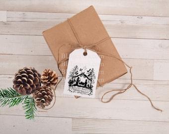 Nativity Christmas Gift Tags Party Favor Treat Bag Tags Handmade TC002