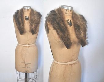 Raccoon Fur Collar / genuine fur