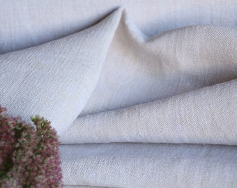 RW 431 antique handloomed laundered 15.62 yards french 리넨 PALE CREAMY upholstering curtain projects wedding