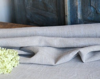 RW 436 antique handloomed laundered 4.372 yards french 리넨 two-toned upholstering curtain projects wedding GREYISH BROWN