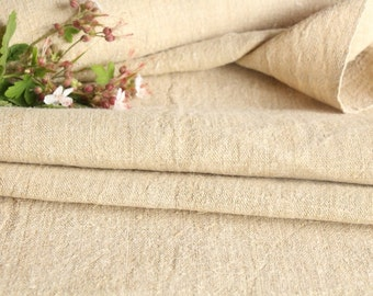 P 3  antique handloomed grainsack fabric upholstery french lin painting linen BROWNISH 8.30yards 20.08wide pillow cushion