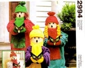 """Sewing Pattern - McCalls Crafts 2994 - 24"""" Carolers - Christmas Decorations - Christmas Carolers"""