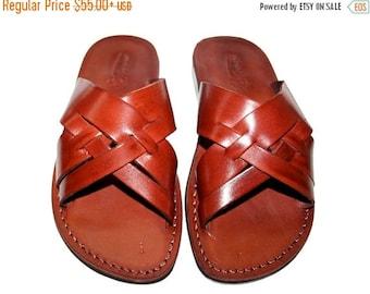 15% OFF Brown Capri Leather Sandals for Men & Women - Handmade Sandals, Leather Flats, Leather Flip Flops, Unisex Sandals, Brown Leather San