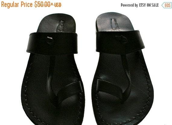 20% OFF Black Twizzle Leather Sandals for Men & Women
