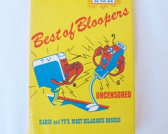 Best of Bloopers 1973 Early TV Radio Outtacks Johnny Carson Live Television Kermit Shafer Humor Misquotes Mid Century Show Business Stories